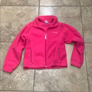Columbia youth fuchsia zip up size 10/12
